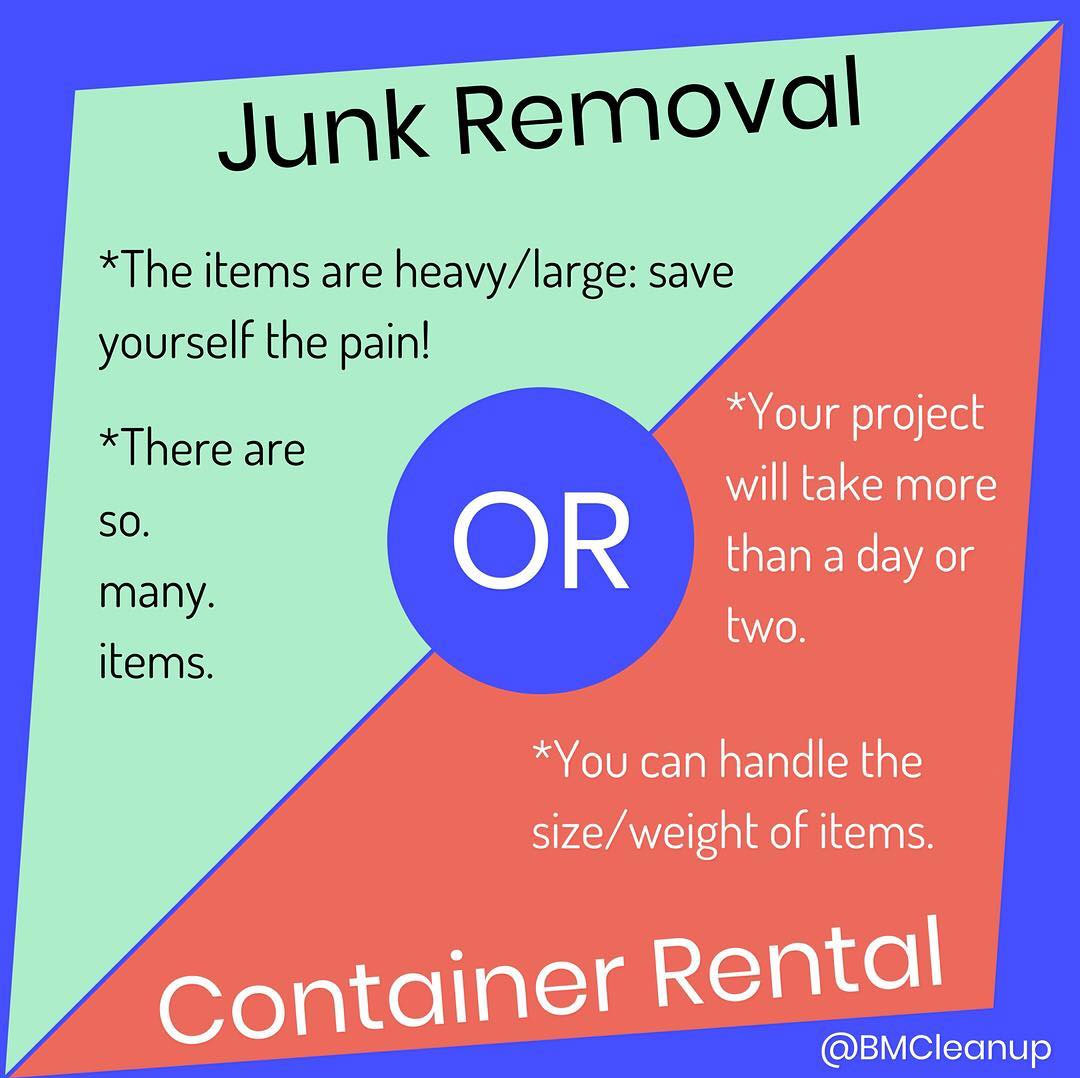 Junk removal or container rental